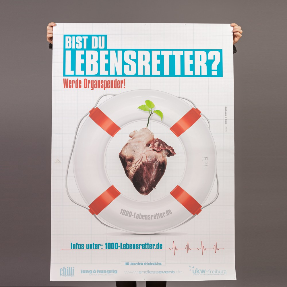 Werde Lebensretter Poster